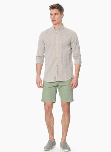 George Hogg Slim Fit Uzun Kollu Gömlek Bej